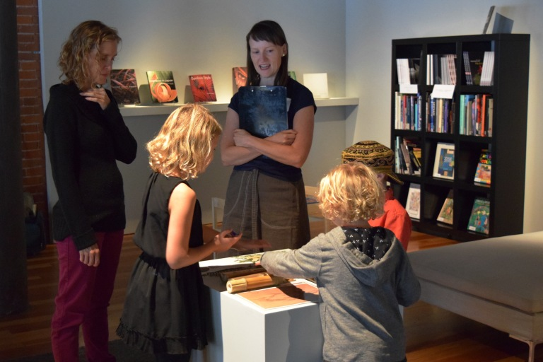"""Of Earth and Sky"" family event at Bullseye Gallery, 2014."